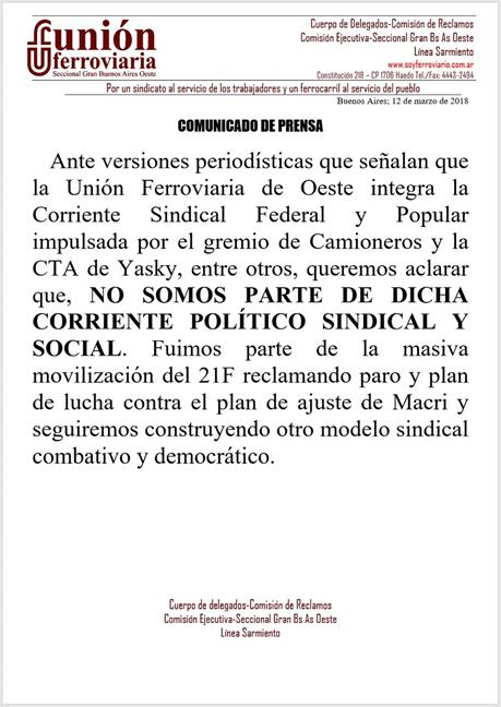 Comunicado de Prensa...