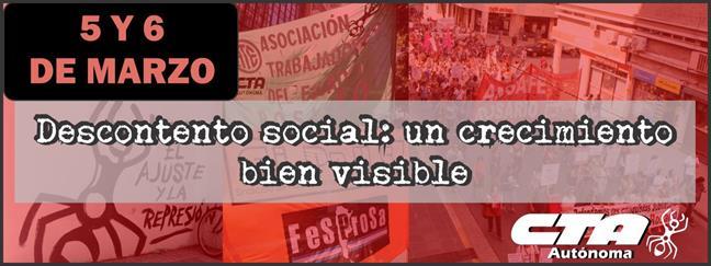 Descontento social: ...
