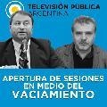 TV Pública: Apertura de sesiones en medio del vaciamiento