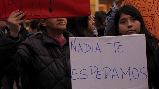 Apareció Nadia Rojas...