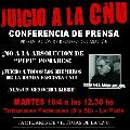 Conferencia de prensa por Juicio CNU