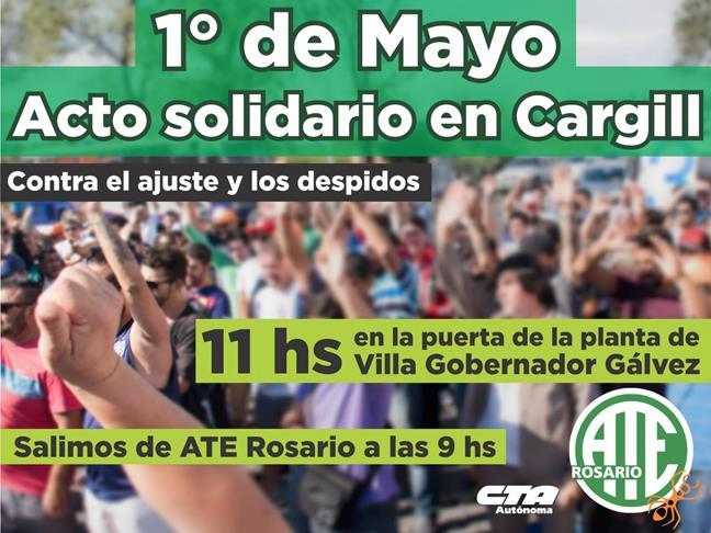 1° de Mayo: acto sol...