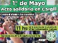 1° de Mayo: acto solidario en Cargill