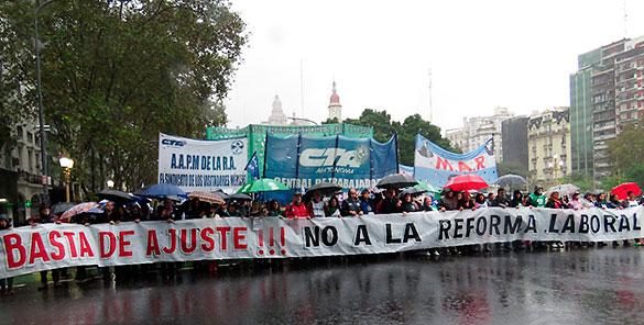 LA CTA Autónoma paró...
