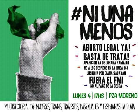 #NiUnaMenos ✊...