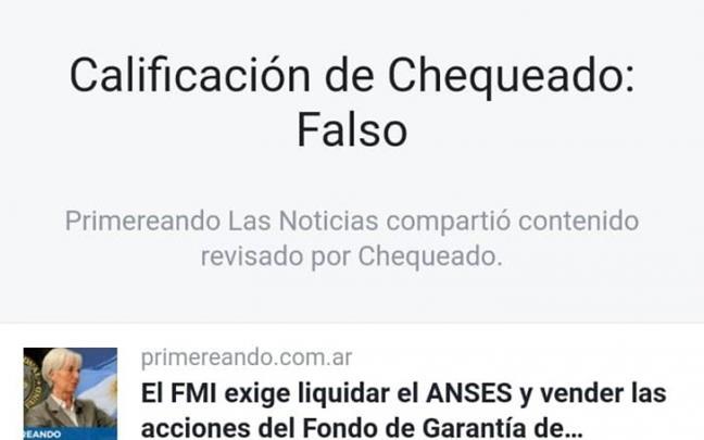 Facebook y Chequead...