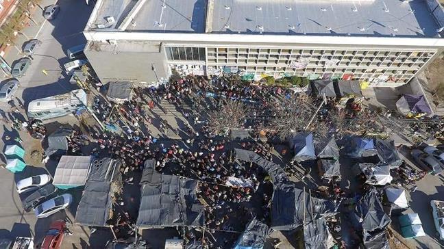 Imagen aérea del aca...